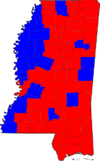 Mississippi Senatorial Election Results by county, 2008.png