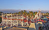Looff Carousel and Roller Coaster on the Santa Cruz Beach Boardwalk