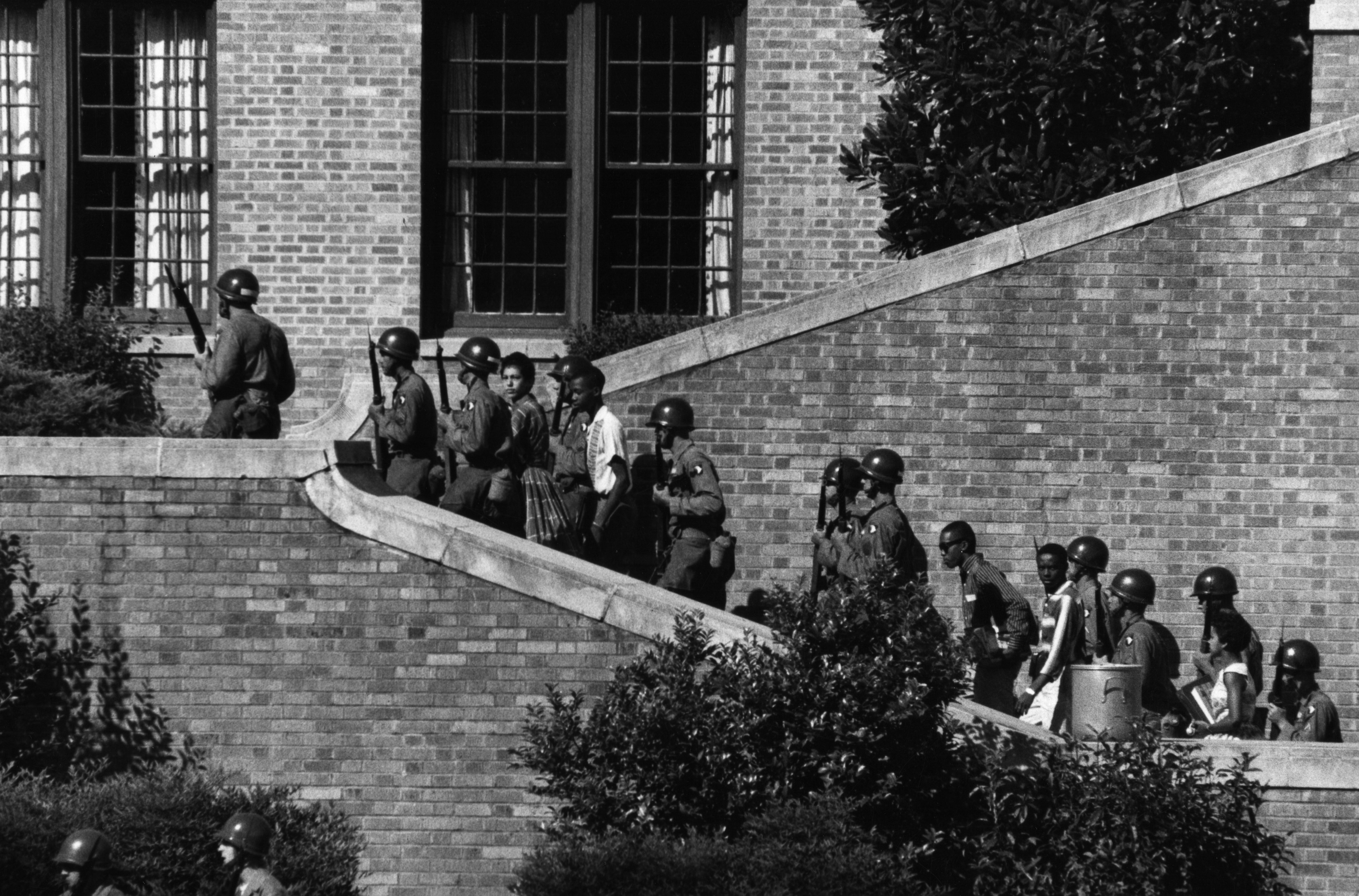 a history of the little rock nine in the american civil rights movement Part of the civil rights movement: the little rock nine was a group of nine african american students enrolled in little rock central high school in 1957.
