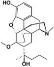 Chemical structure of Dihydroetorphine.