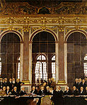 William Orpen - The Signing of Peace in the Hall of Mirrors, Versailles.jpg