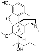 Chemical structure of Etorphine.