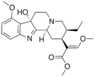 Chemical structure of 7-Hydroxymitragynine.