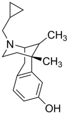 Chemical structure of Cyclazocine.