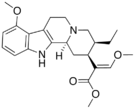 Chemical structure of Mitragynine.