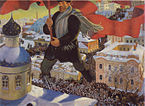 """The Bolshevik"" by Boris Kustodiev"
