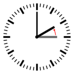 Diagram of a clock showing a transition from 3:00 to 2:00.