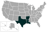 Southland Conference map.png