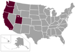 WCC West Coast Conference Map.PNG