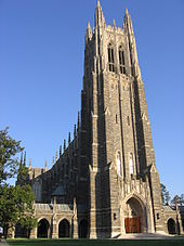 Complete photo of Duke Chapel on a sunny day