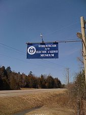 The sign for the Museum on Guelph Line.