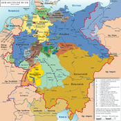 Map of the German Confederation