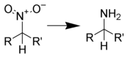 Generalization of the reduction of a nitroalkane to an amine
