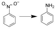 Generalization of the reduction of a nitroarene to aniline