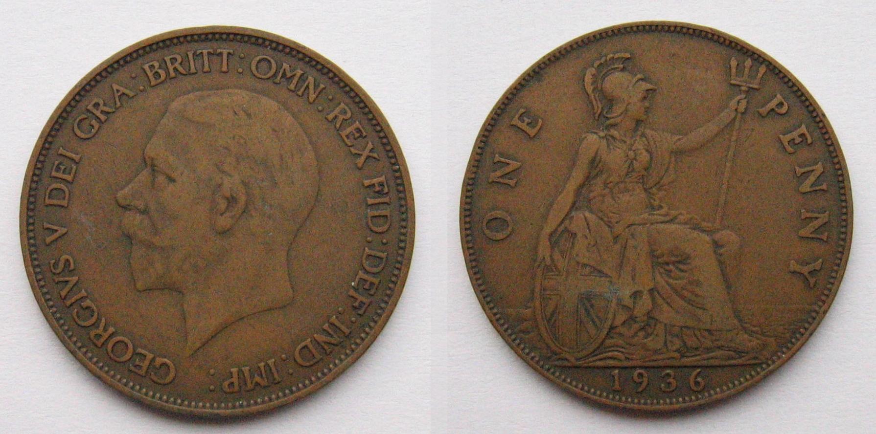 Penny British Pre Decimal Coin