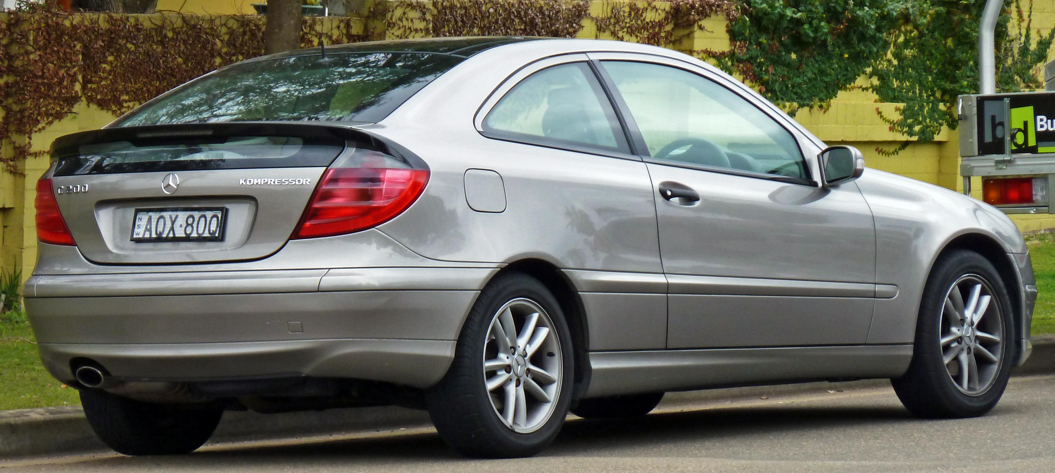Mercedes C Coupe Kompressor Rear Door