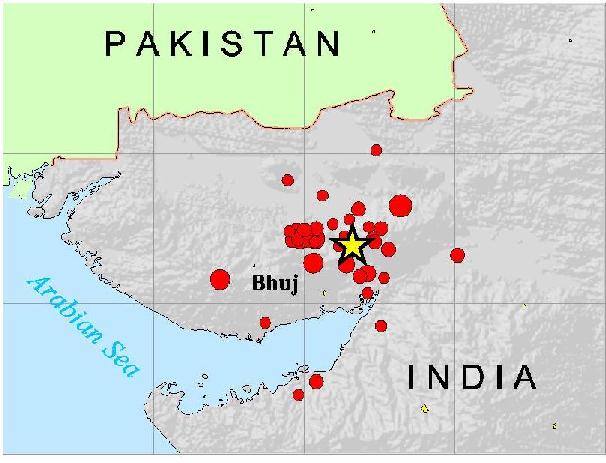 Map of Gujarat Earthquake