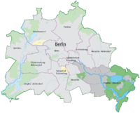 The location of Treptow-Köpenick in Berlin.