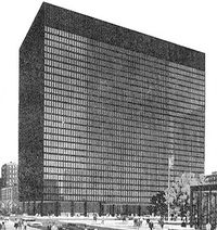 The Dirksen Federal Building in Chicago, one of four locations where the United States District Court for the Northern District of Illinois holds sessions.