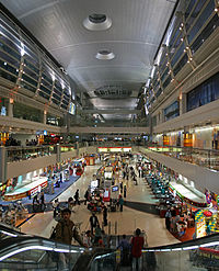 Interior of Dubai International Airport, July 2009