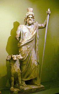 Hades with Cerberus (Heraklion Archaeological Museum)