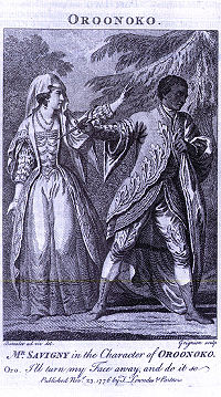 Illustration of a 1776 performance of Oroonoko.