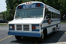 1995-2000 Blue Bird Mini Bird activity bus on Chevrolet P30 chassis