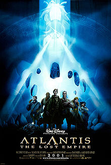 The expedition crew stand together as a mysterious woman is floating in the background surrounded by stone effigies while emitting brilliant white beams of light from a crystal necklace.