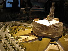 A model of the Canadian Museum of Human Rights.