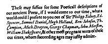 Extract from a book praising several poets including Shakespeare.