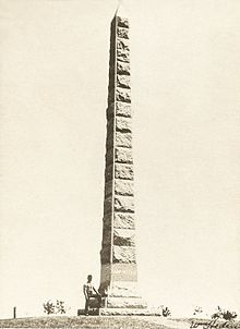 Camp Release Granite Spire Monument (circa 1900)