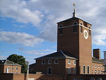 Clock tower, County Hall, Exeter.jpg