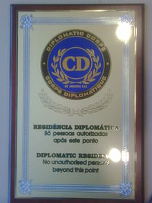 Plaque of Diplomatic Corps Logo
