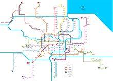 Раз в... Схема линий шанхайского Метрополитена на 22 ноября 2011 г. Метро - инструмент городского метаболизма.