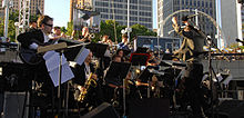 WSU Big Band at Jazz Fest in Detroit.