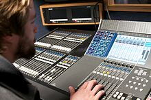 A WSU CFPCA student operates a switcher during a production.