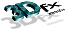 An early version of 3dfx logo. The name was written with a capital 'D' at the time.