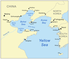 Map showing Korea Bay.