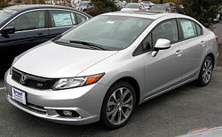 2012 Honda Civic Si sedan (US)