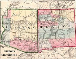 Location of New Mexico Territory