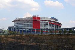 Дворец спорта Мегаспорт в Москве - крытое спортивное сооружение расположенное в Москве на Ходынском бульваре.