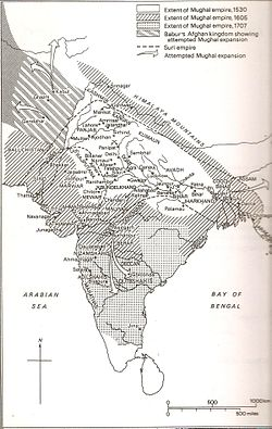 Timeline of Mughal State 1526-1707