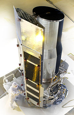 Spitzer Space Telescope prior to launch