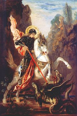Saint George. Painting by Gustave Moreau