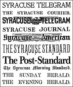 Antique Syracuse Newspapers