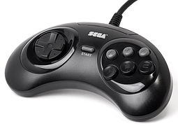 Six-button Genesis controller that was released later