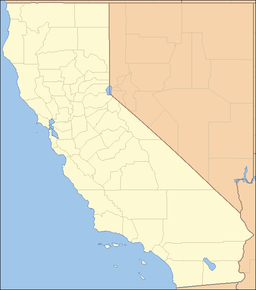 Location of Natural Bridges State Beach in California