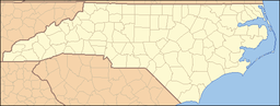 Location of Gorges State Park in North Carolina