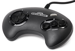 Original three-button Genesis controller