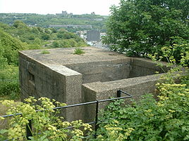 Pillbox at St Martin's Battery, Western Heights, Dover